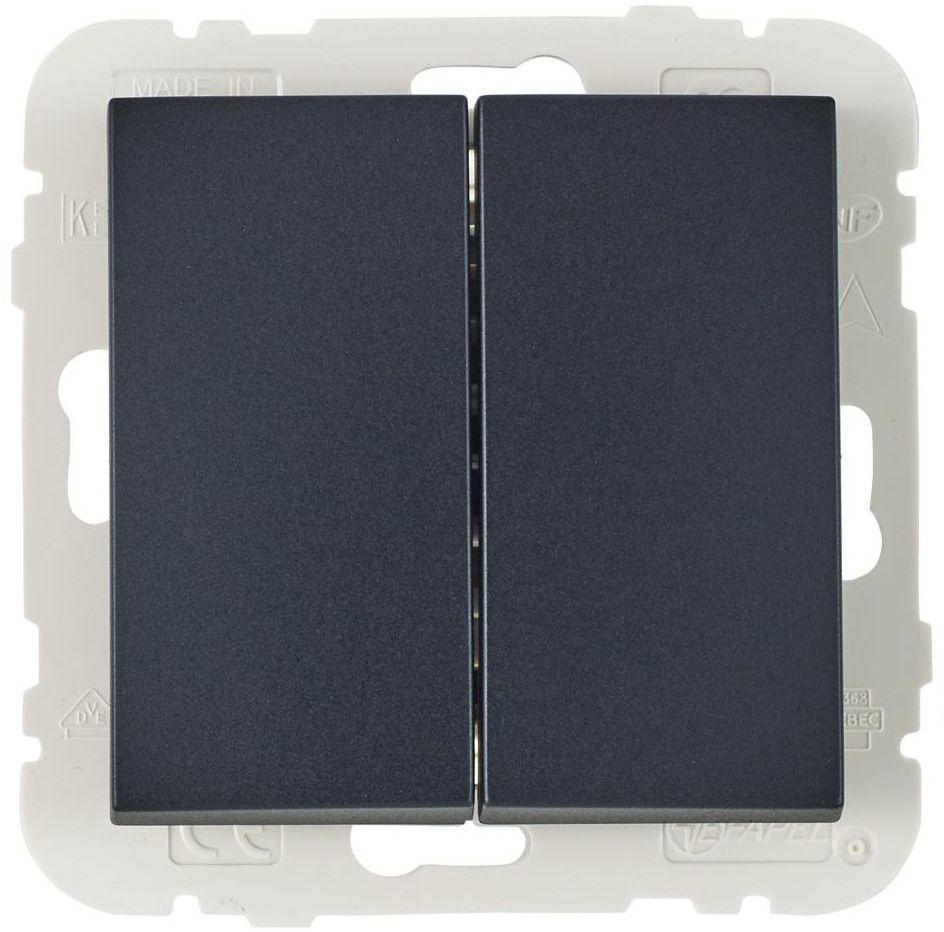Włącznik podwójny LOGUS 90 Czarny EFAPEL