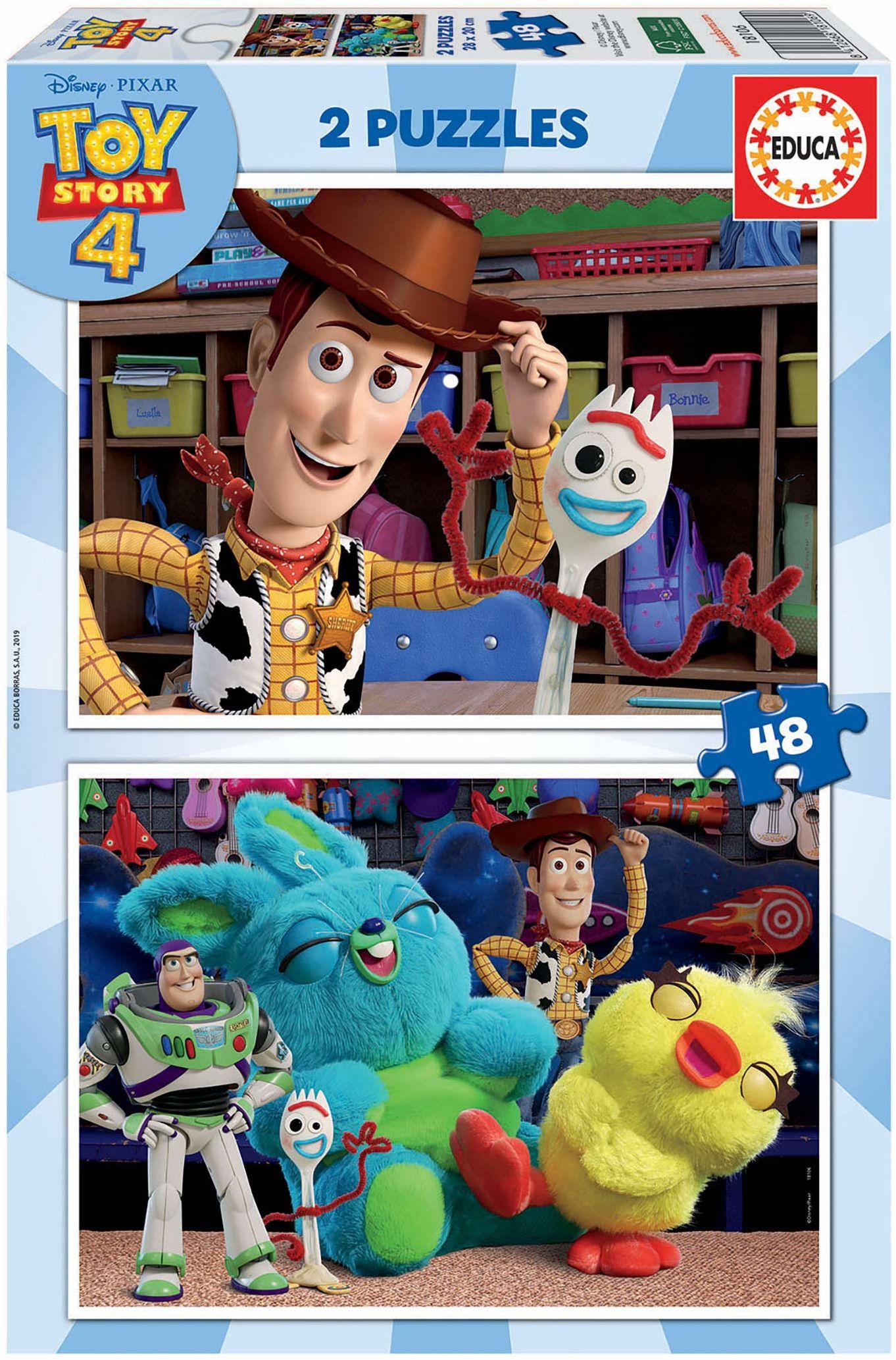 Educa Borrás 18106 Toy Story 4 puzzle, wyjątkowe, 2 x 48 piezas