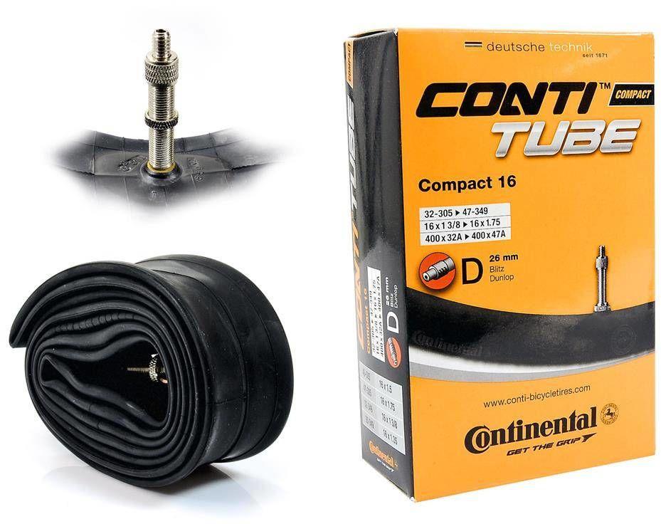 """Dętka Continental Compact 16'' x 1,25"""" - 1,75'' wentyl dunlop 26 mm"""