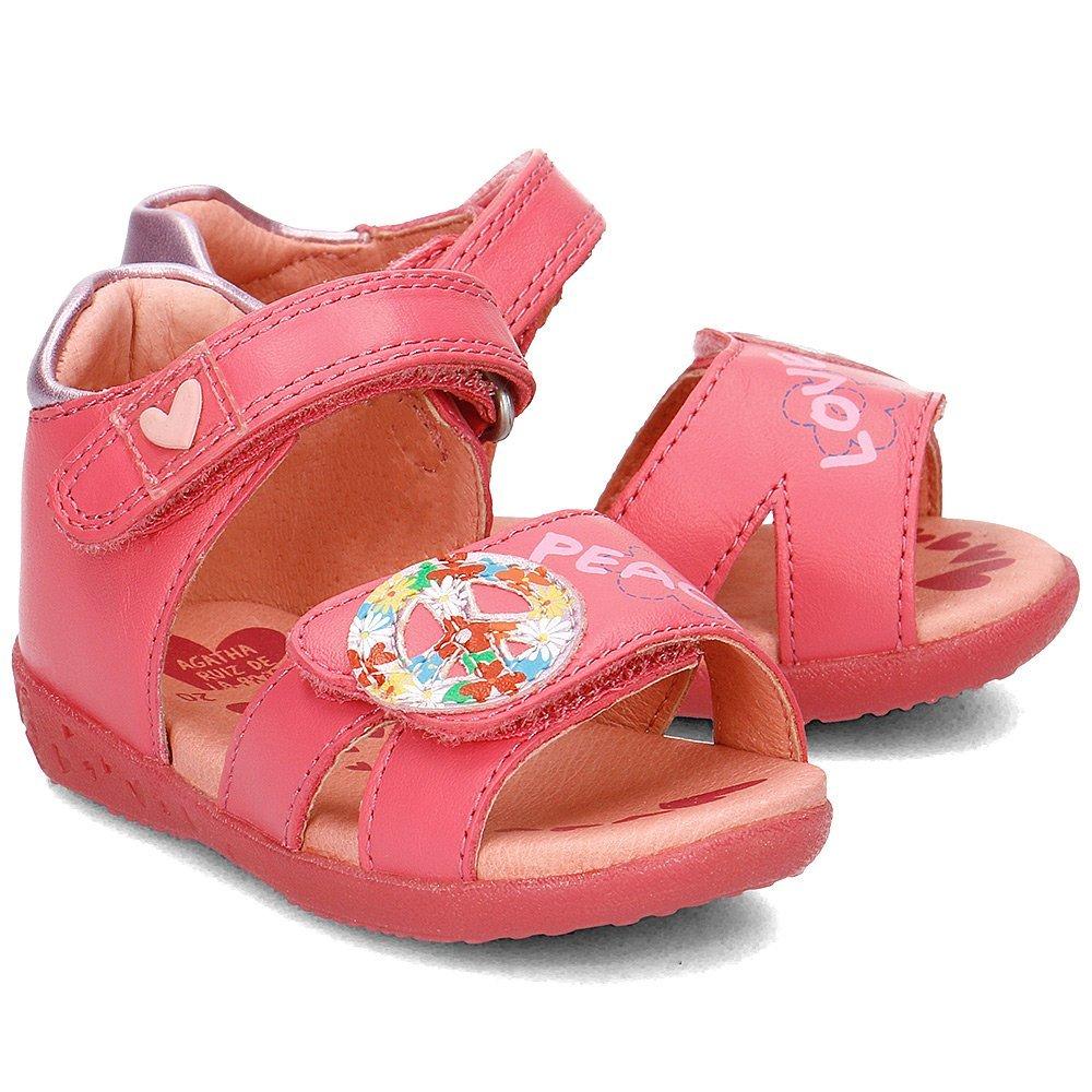 Agatha - Sandały Dziecięce - 172920 A-FUCSIA - Różowy