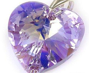 Swarovski Duży Wisiorek Kryształ 28Mm Violet