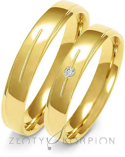 Obrączki ślubne Złoty Skorpion  wzór Au-A155