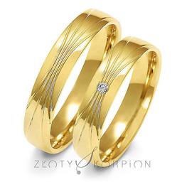 Obrączki ślubne Złoty Skorpion  wzór Au-A156