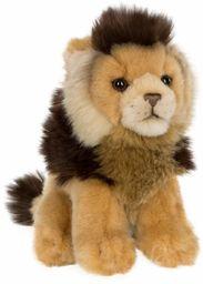 WWF WWF00602 15192039 pluszowy lew, realistyczny pluszowy zwierzak, ok. 19 cm wielkości i cudownie miękki, brązowy, 15 cm