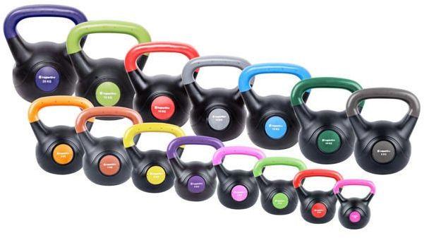 Zestaw hantli kettlebell inSPORTline Vin-Bell Dark 1-20 kg