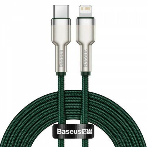 Kabel Baseus Cafule Metal USB-C do Lightning 20W 1m, zielony