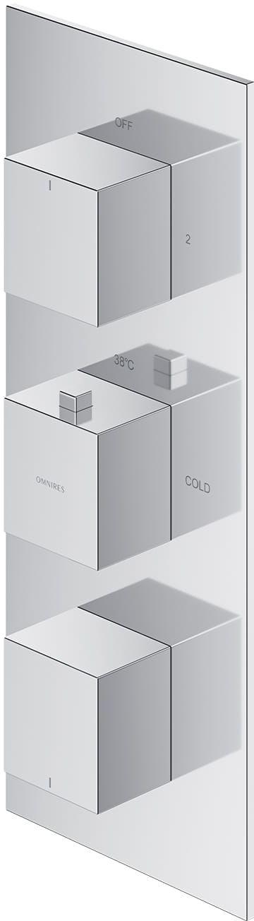 Omnires Fresh bateria prysznicowo-wannowa podtynkowa termostatyczna 3-wyjściowa chrom FR7138ROCR