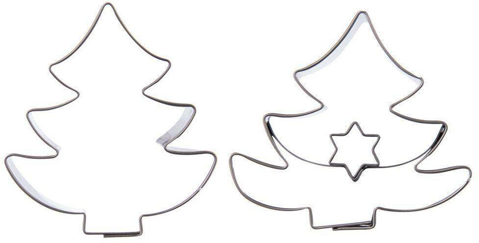 Świąteczny wykrawacz cukierniczy foremka do ciastek pierników choinka święta Boże Narodzenie 2 sztuki
