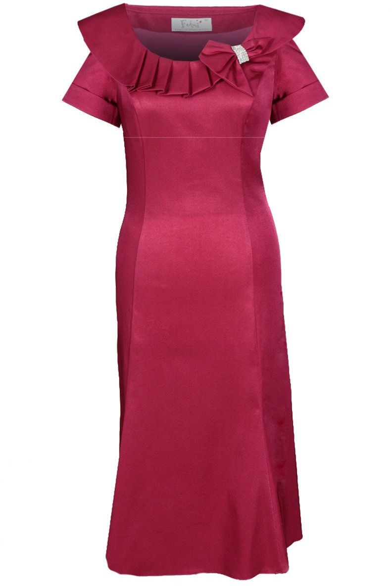Sukienki Sukienka Suknie FSU214 MALINOWY