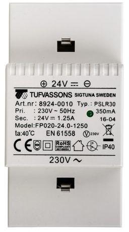 Zasilacz impulsowy PSLR 24 230VAC/24VDC 1,25A /na szynę TH/ 18924-0010