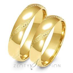 Obrączki ślubne Złoty Skorpion  wzór Au-A158