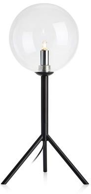 Lampa stołowa Andrew 107749 Markslojd czarna oprawa z kulistym kloszem