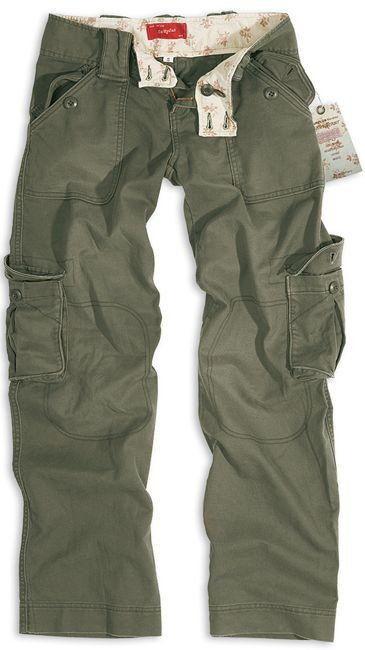 Surplus Spodnie Bojówki Damskie Olive