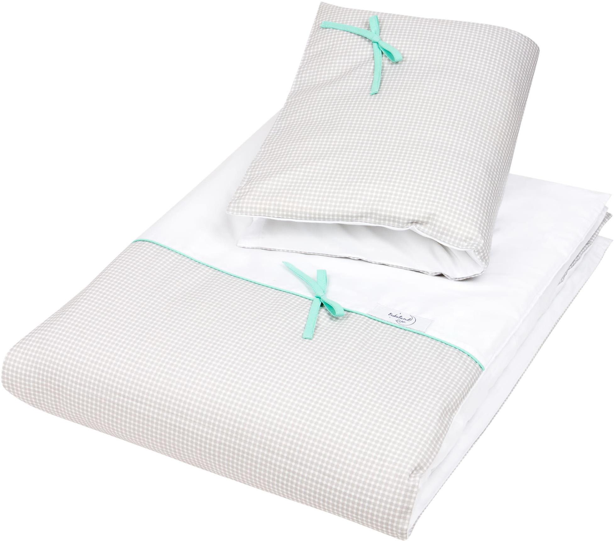 Pościel do łóżeczka, bawełna, satyna 2 el. kratka
