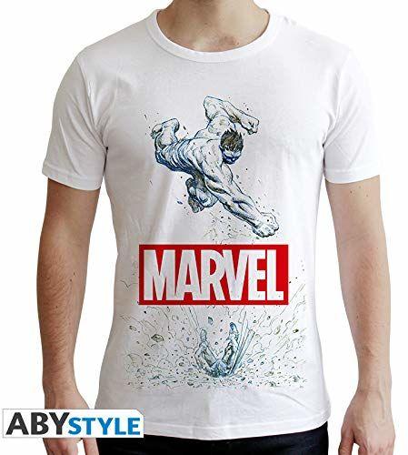 """ABYstyle - MARVEL - T-shirt -""""Marvel Hulk"""" - mężczyźni - biały (S)"""