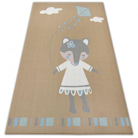 DYWAN dla dzieci LOKO Myszka beż antypoślizgowy 120x170 cm