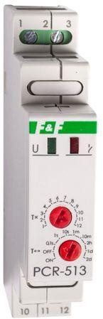 Przekaźnik czasowy 1P 10A 0,1sek-576h 12-264V AC/DC opóźnione wyłączenie PCA512UNI