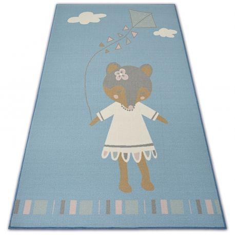 DYWAN dla dzieci LOKO Myszka niebieski antypoślizgowy 120x170 cm