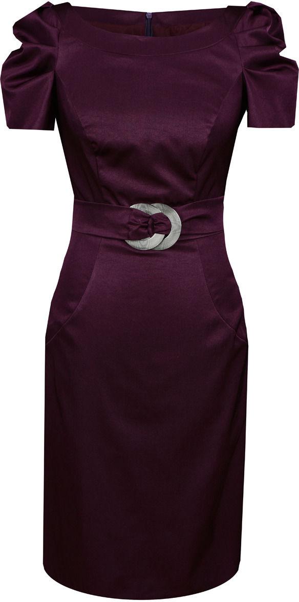 Sukienki Sukienka Suknie FSU203 PURPUROWY