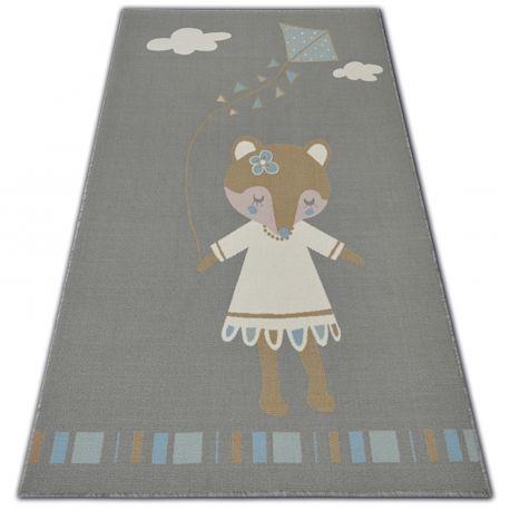 DYWAN dla dzieci LOKO Myszka szary antypoślizgowy 120x170 cm