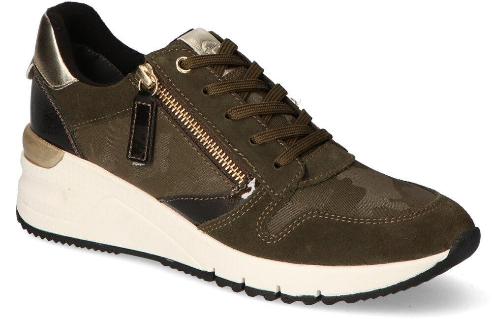 Sneakersy Tamaris 1-23702-25 Oliwkowe zamsz