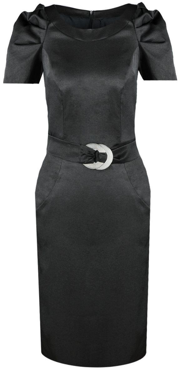 Sukienki Sukienka Suknie FSU203 CZARNY