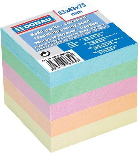 Kostka biurowa kolor nieklejona 83x83 DONAU /8309000-99/ !dostępność 10-08-2020!