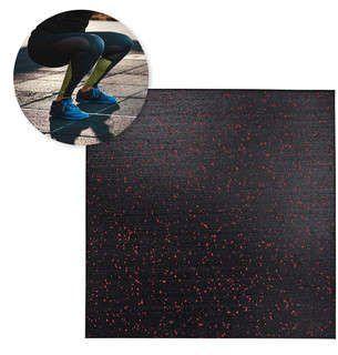 Mata ochronna składana pod sprzęt, do sal fitness 50x50x3 cm Puzeko Insportline