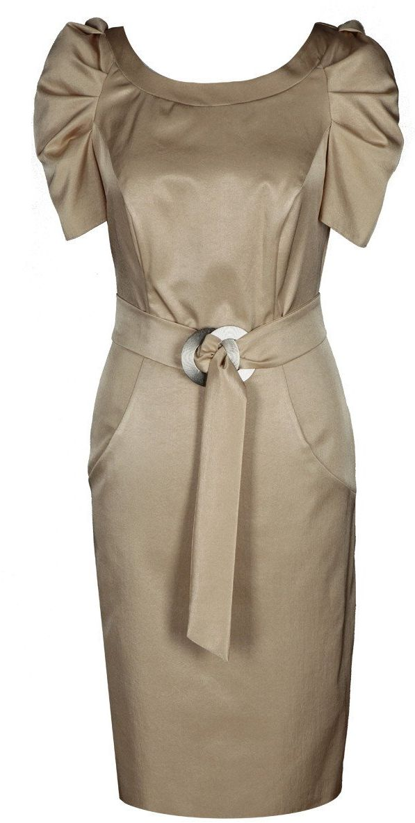 Sukienki Sukienka Suknie FSU203 SZAMPAN