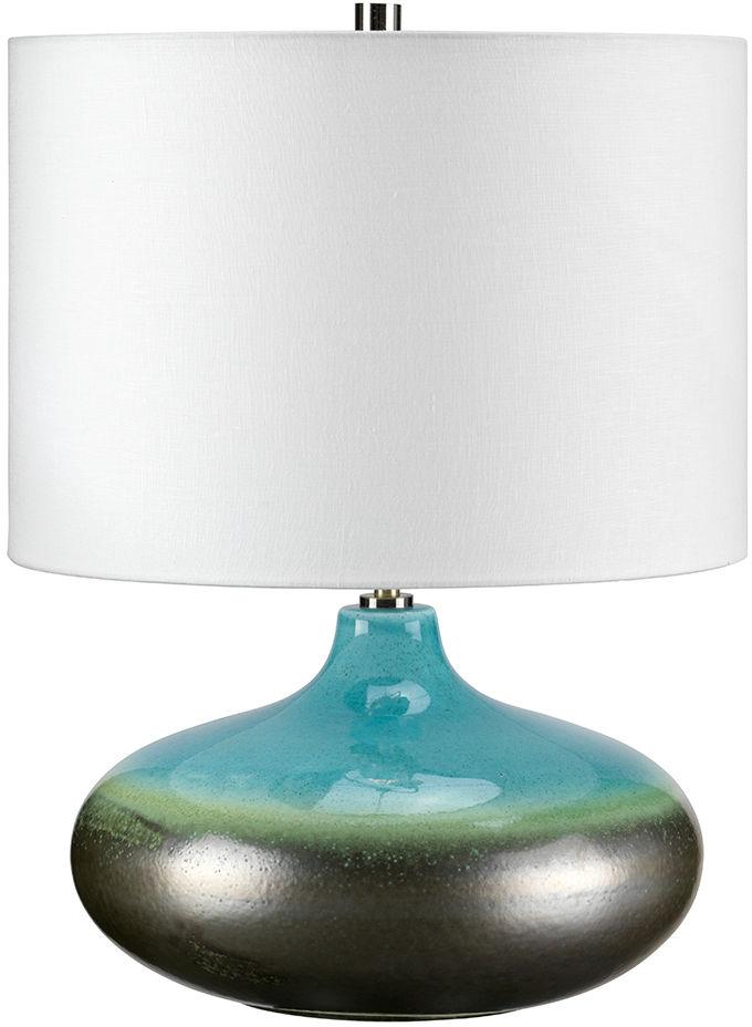 Lampa stołowa Laguna Small LAGUNA/TL SM Elstead Lighting dekoracyjna oprawa w kolorze grafitowo-turkusowym