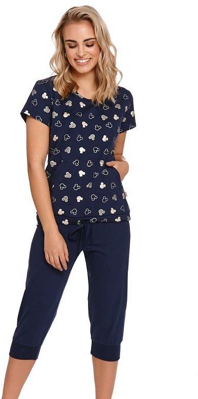 Piżama damska z bawełny organicznej Penny granatowaXXL