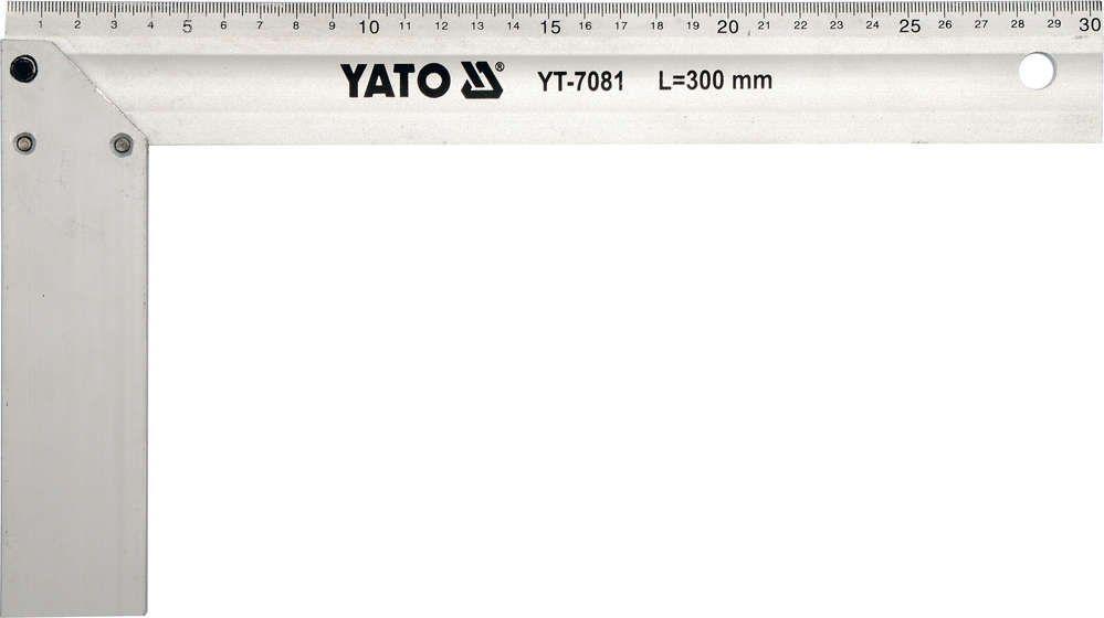Kątownik aluminiowy 300 mm. Yato YT-7081 - ZYSKAJ RABAT 30 ZŁ