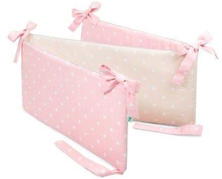 Ochraniacz do łóżeczka - Lovely Dots Pink & Beige