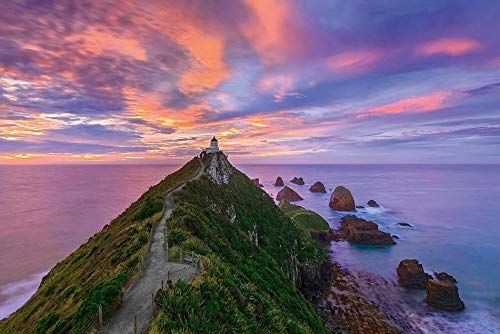 Nugget Point Lighthouse, The Catlins, South Island - New Zealand - Puzzle Mark Gray 3000 Teile