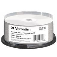 Verbatim BluRay BD-R SL 25 GB x6 25 szt. WIDE PRINT