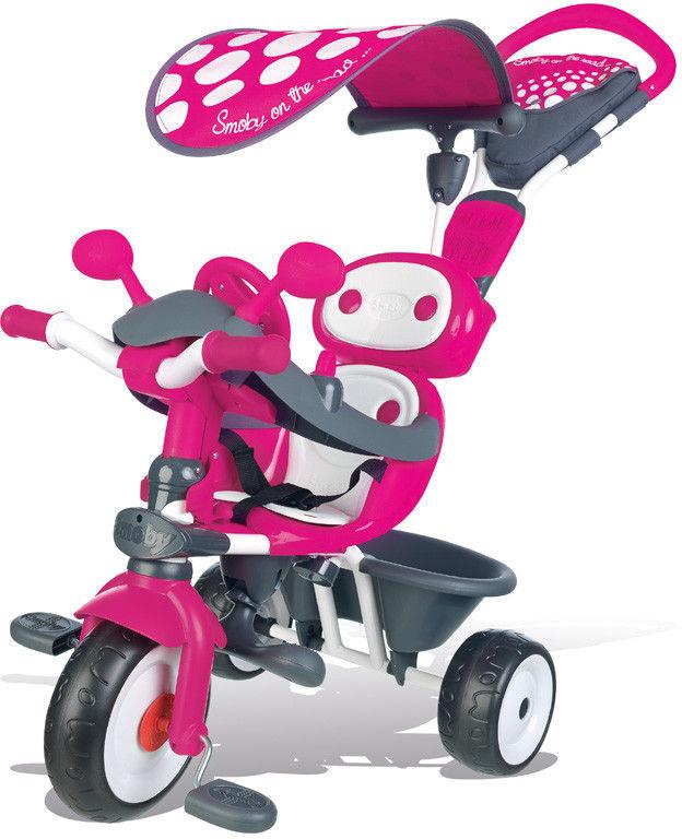 Smoby - Rowerek Baby Drive Komfort 4w1 Róż 740600