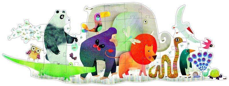 Puzzle tekturowe dla dzieci. Zwierzęce Zgromadzenie, Djeco