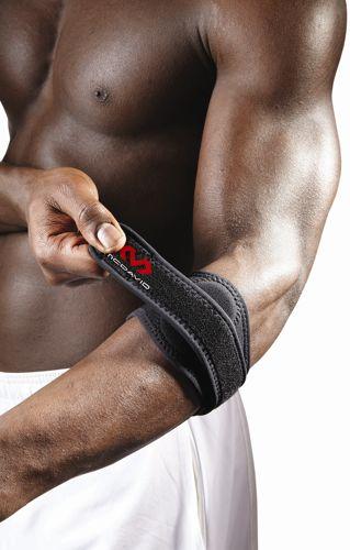 Stabilizator rękaw na łokieć tenisisty McDavid Elbow Strap w/ pads