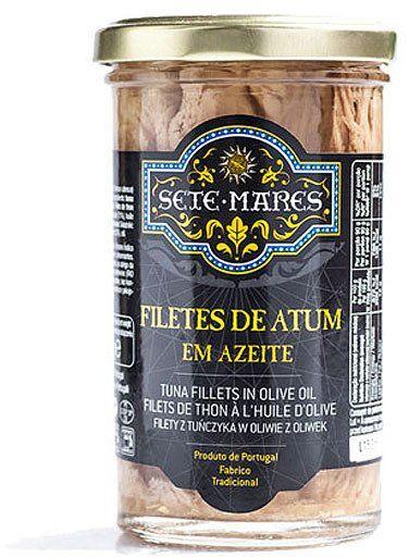 Filety z tuńczyka w oliwie z oliwek 250g Sete Mares