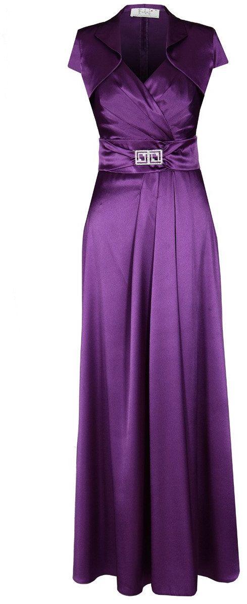 Sukienki Sukienka Suknie FSU197 PURPUROWY