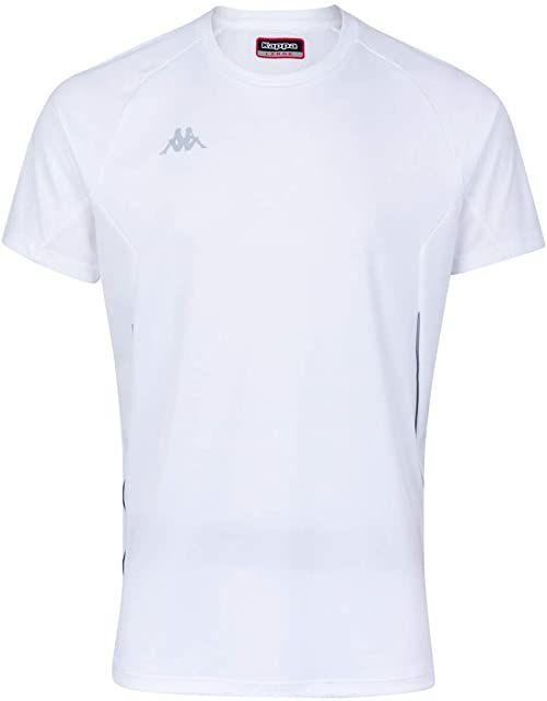 Kappa Męska koszulka techniczna Fanio, biała, 6Y