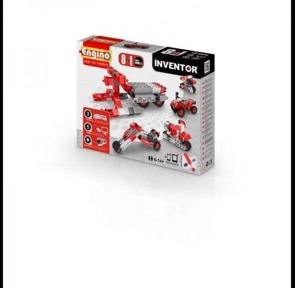 Inventor 8 models motorbikes - motory - Engino