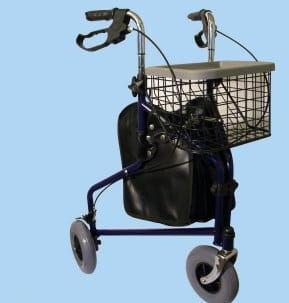 Balkonik trójkołowy z torbą i koszykiem AR-004