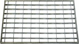 ID mat t 4060 _ L kratka metalowa dywan wycieraczka stal ocynkowana szary 60 x 40 x 2 cm