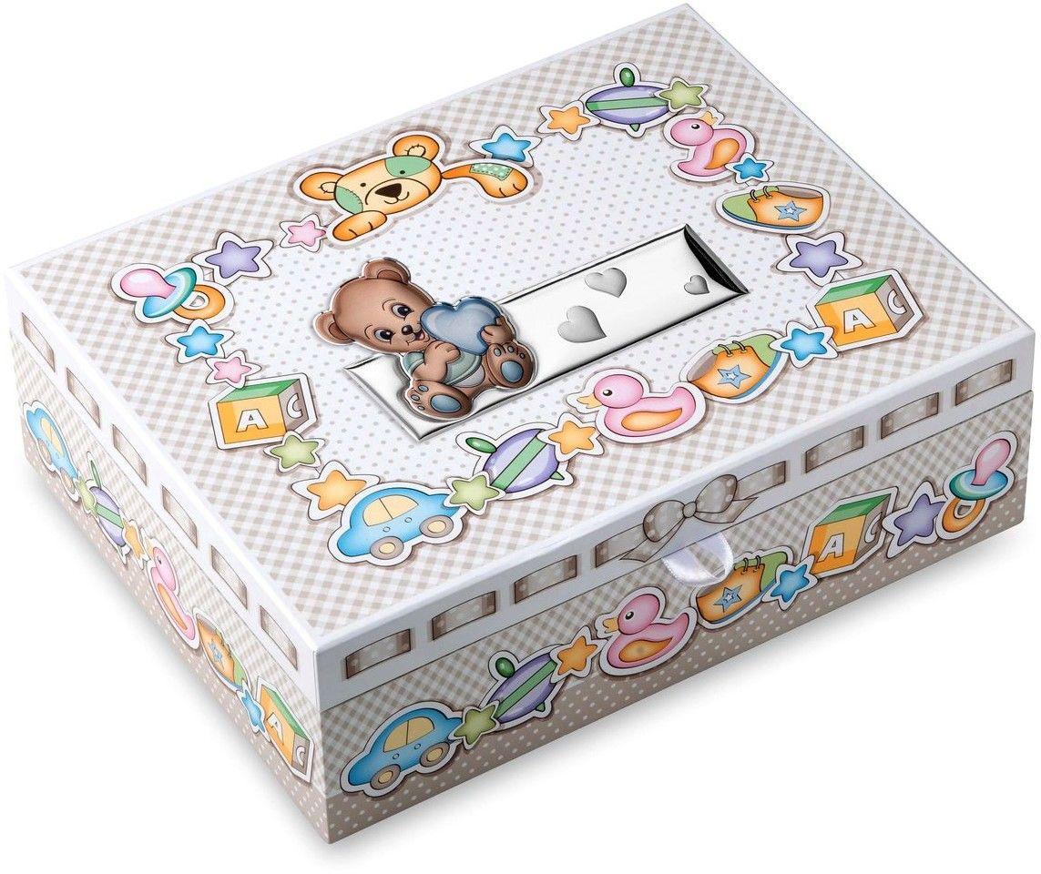 Pudełko wspomnień miś Rozmiar: 29x23x10 cm Kolor: Niebieski SKU: VL75047C