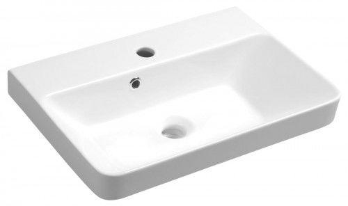 Umywalka wpuszczana w blat/wisząca 55x37 cm ceramiczna biała