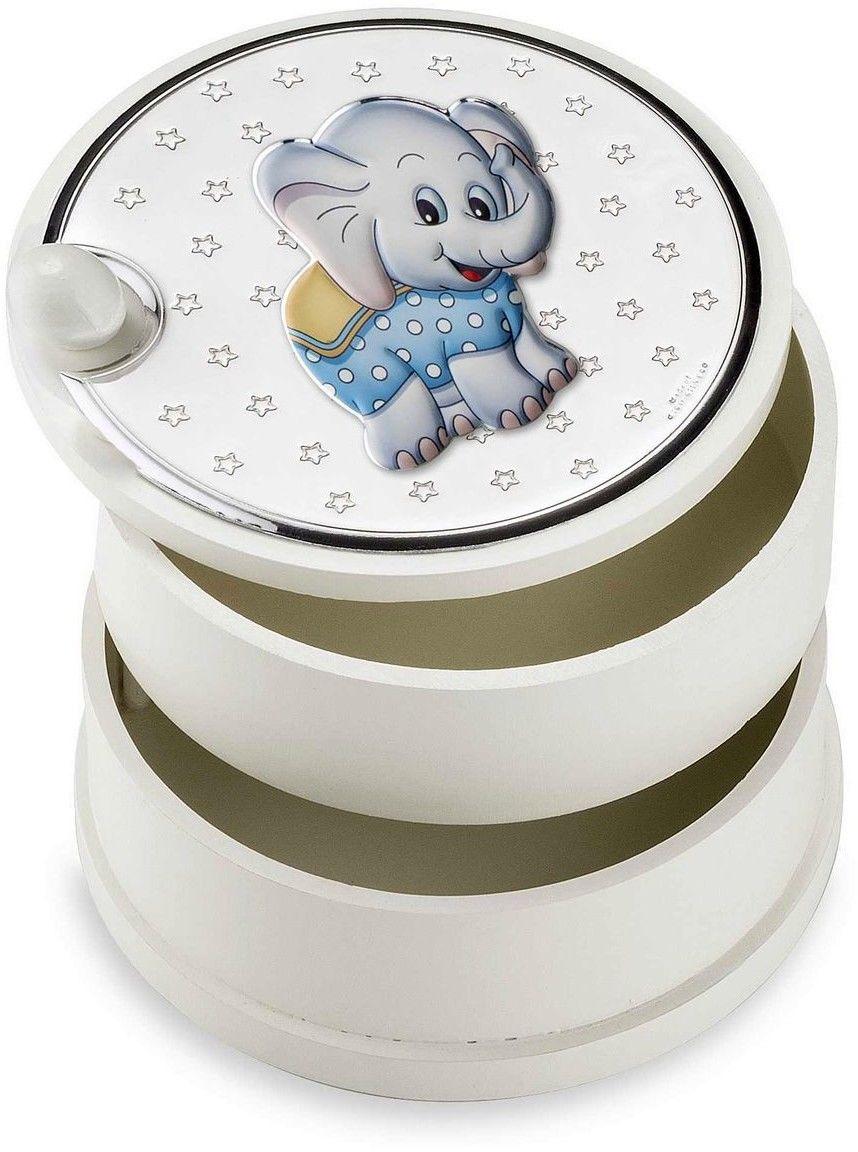 Szkatułka dziecięca Rozmiar: Fi 12 cm H9 cm Kolor: Niebieski SKU: VL75112C