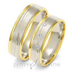 Obrączki ślubne dwukolorowe Złoty Skorpion  wzór Au-A218