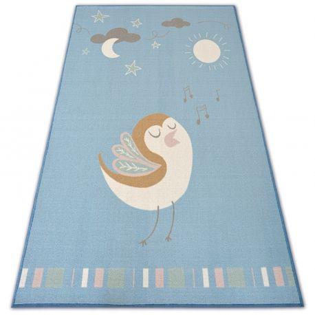 DYWAN dla dzieci LOKO Ptaszek niebieski antypoślizgowy 120x170 cm