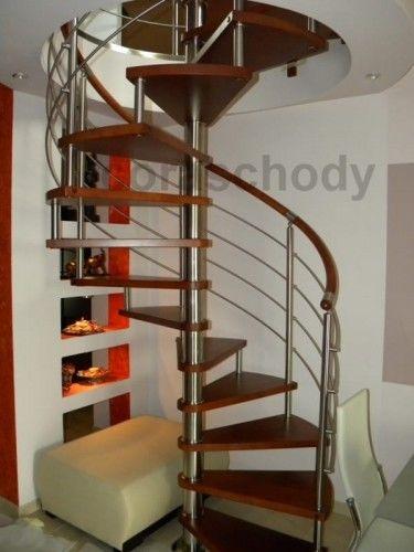 Schody spiralne CORA model Bawaria vertical ø 110 cm